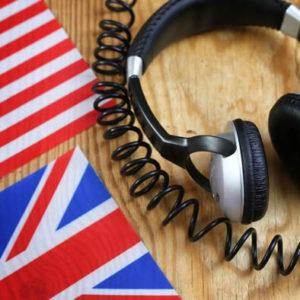 banderas y auriculares