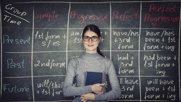 profesora preposiciones ingles